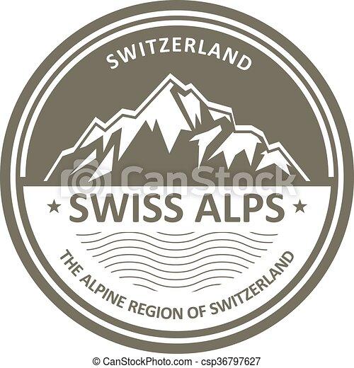 alpes suisses, emblème, suisse, - - csp36797627