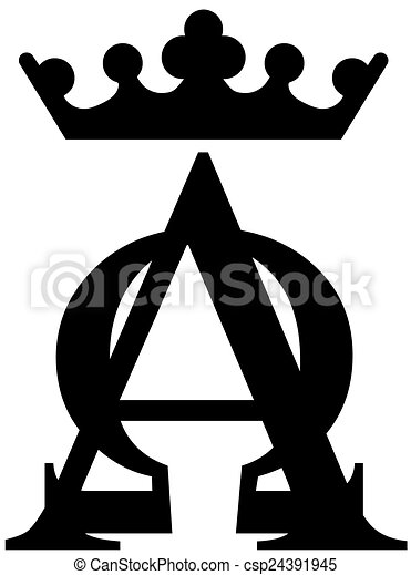 Alpha And Omega From Letters Drawing Search Clip Art Illustrations