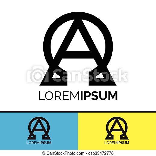 Alpha And Omega Symbol Icon Design Conceptual Symbolic Vectors