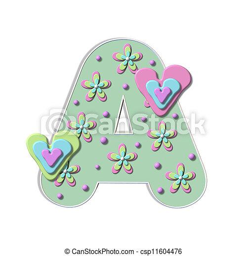 Alpha Bubble Heart A - csp11604476