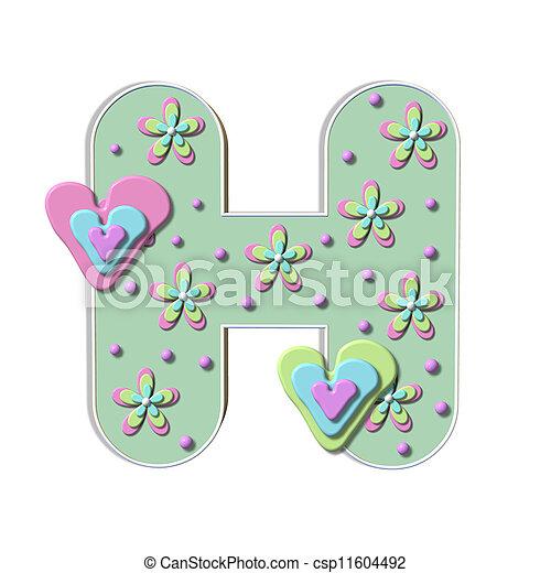 Alpha Bubble Heart H - csp11604492