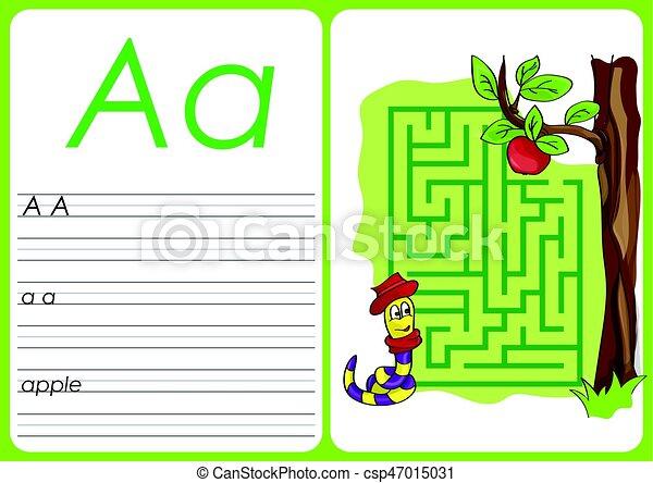 alphabet a z puzzle worksheet a apple alphabet a z a