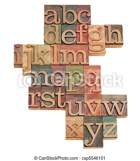 alphabet abstract in wooden fonts - csp5546101