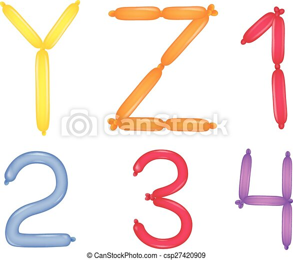 Alphabet and numbers - csp27420909