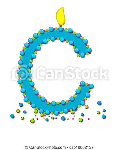 alphabet birthday cake candle c csp10802137