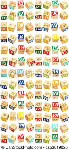 Alphabet Blocks A thru Z - csp3819825