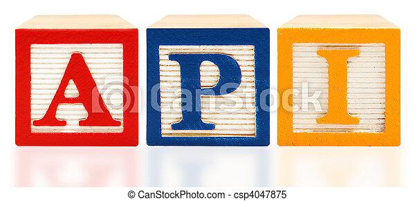 Alphabet Blocks Academic Performance Index  API - csp4047875