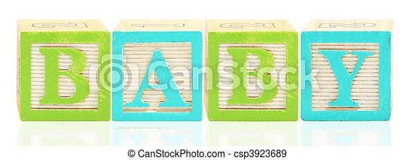 Alphabet Blocks BABY - csp3923689