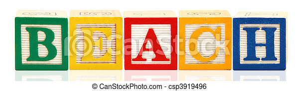 Alphabet Blocks Beach - csp3919496