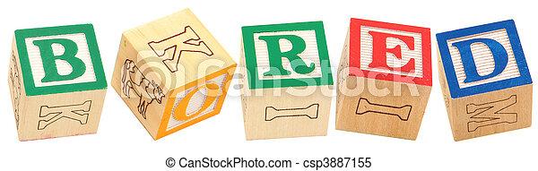 Alphabet Blocks BORED - csp3887155