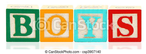 Alphabet Blocks BOYS - csp3907140