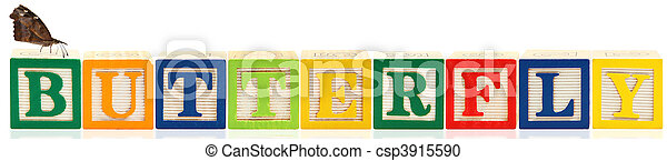 Alphabet Blocks BUTTERFLY - csp3915590