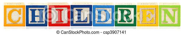 Alphabet Blocks CHILDREN - csp3907141