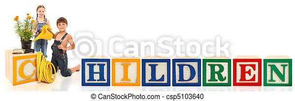Alphabet Blocks Children - csp5103640