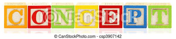 Alphabet Blocks CONCEPT - csp3907142