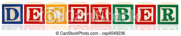 Alphabet Blocks December - csp4049236