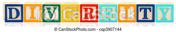 Alphabet Blocks DIVERSITY - csp3907144