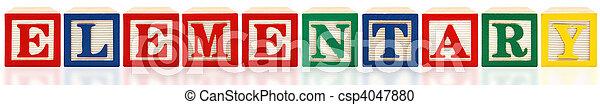 Alphabet Blocks Elementary - csp4047880