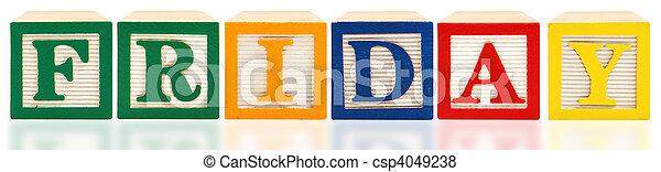 Alphabet Blocks Friday - csp4049238