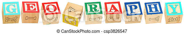 Alphabet Blocks GEOGRAPHY - csp3826547