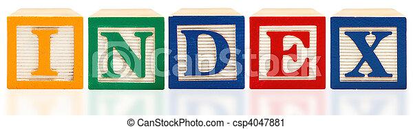 Alphabet Blocks Index - csp4047881