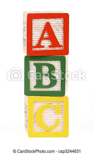 Alphabet blocks isolated - csp3244631