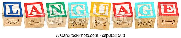 Alphabet Blocks LANGUAGE - csp3831508