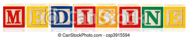 Alphabet Blocks MEDICINE - csp3915594