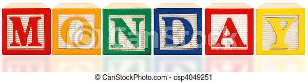 Alphabet Blocks Monday - csp4049251