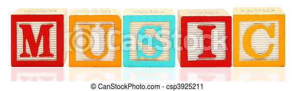 Alphabet Blocks MUSIC - csp3925211