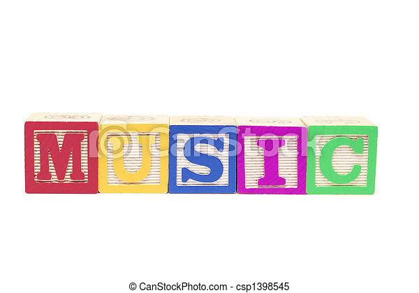Alphabet Blocks - Music - csp1398545
