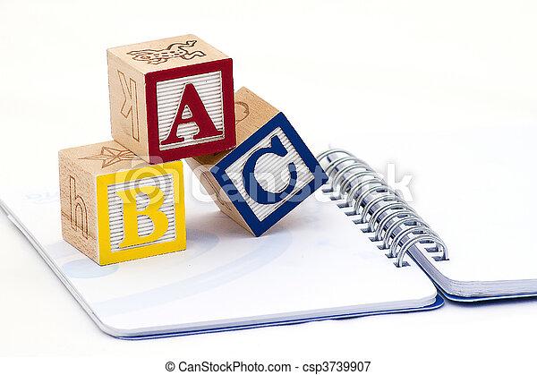 Alphabet blocks - csp3739907