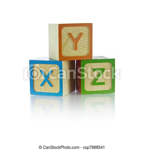 Alphabet blocks - csp7988541