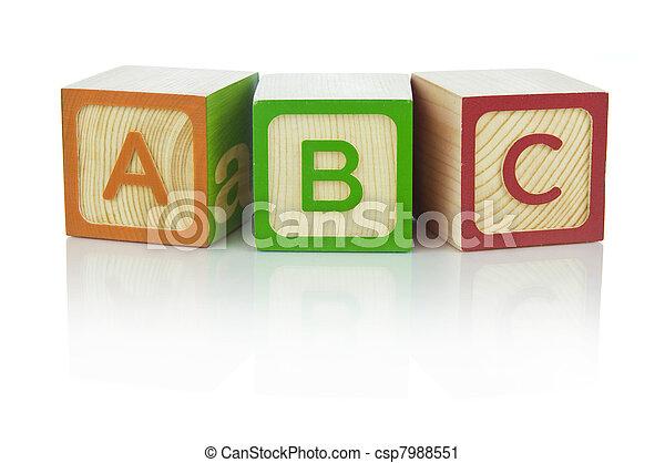 Alphabet blocks - csp7988551