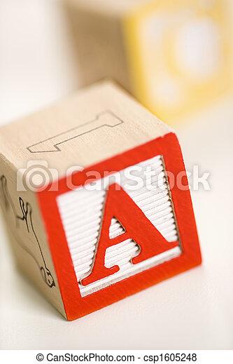Alphabet blocks. - csp1605248