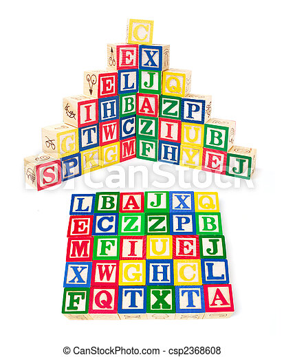 Alphabet Blocks - csp2368608