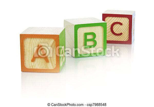 Alphabet blocks - csp7988548
