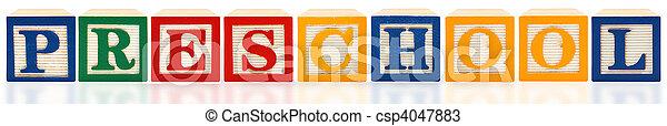 Alphabet Blocks Preschool - csp4047883