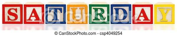 Alphabet Blocks Saturday - csp4049254