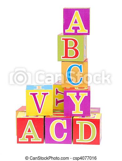 alphabet blocks - csp4077016