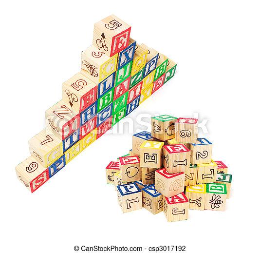 Alphabet Blocks - csp3017192