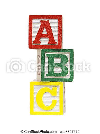 Alphabet Blocks - csp3327572