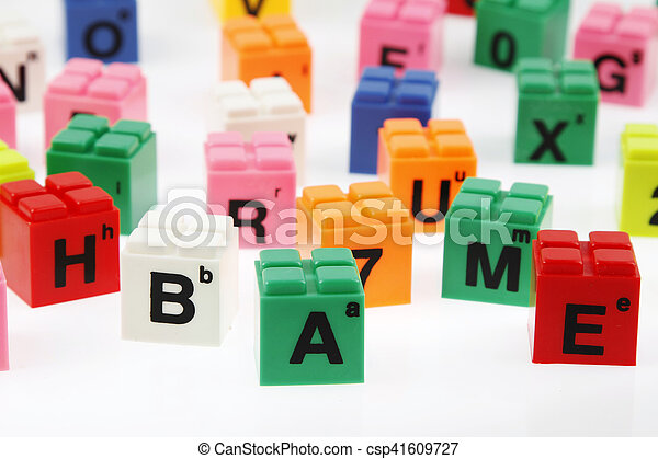 Alphabet blocks - csp41609727