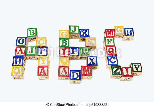 Alphabet Blocks - csp61933328
