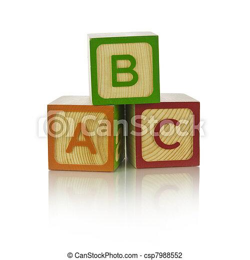 Alphabet blocks - csp7988552