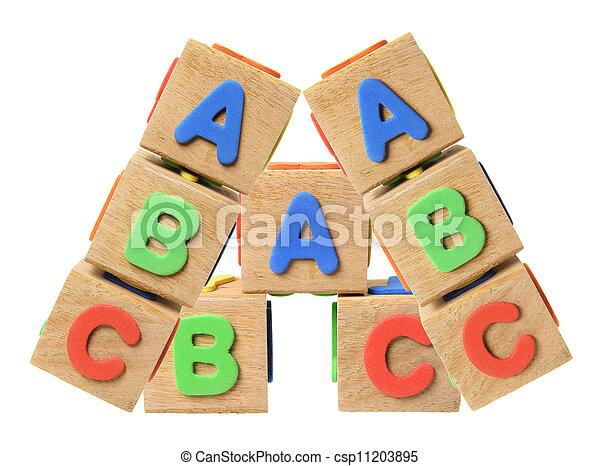 Alphabet Blocks - csp11203895