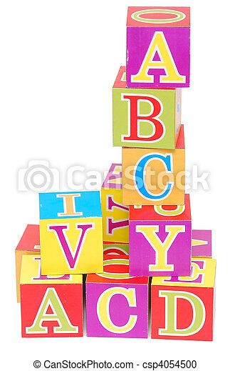 alphabet blocks - csp4054500