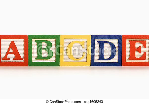 Alphabet blocks. - csp1605243