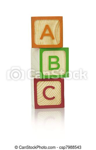 Alphabet blocks - csp7988543