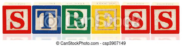 Alphabet Blocks STRESS - csp3907149